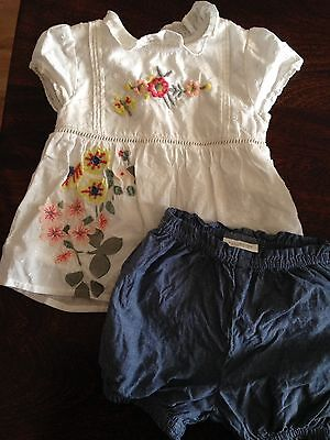 Next Baby Girls Summer Top And Shorts Floral Set 0-3 Months