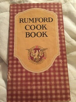 1910s RUMFORD BAKING POWDER COOK BOOK PLAID COVER