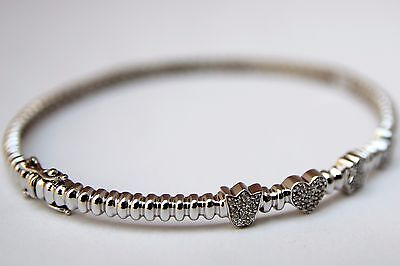TOUS MINI DOLLS pulsera oro blanco 18Kt. con diamantes (750 white gold bracelet)