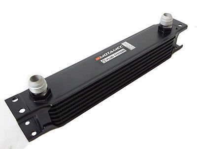 Motamec Oil Cooler 7 Row - 235mm Matrix -10 AN JIC - Black Alloy