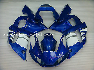 Fairings For YAMAHA YZF R6 1998-2002 1999 2000 2001 Injection Mold White Blue