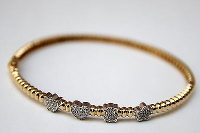 TOUS MINI DOLLS pulsera oro amarillo 18K y diamantes (750 yellow gold bracelet)