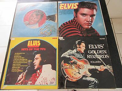 ELVIS PRESLEY JOB LOT 4 x LPs (HITS OF THE 70s, GOLDEN RECORDS ETC)