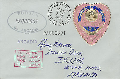 Tonga 4476 - Used in AIACCIO, CORSICA  1 968  PAQUEBOT cover to UK