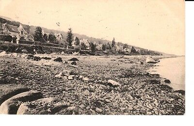 1920 North End of BLAIRMORE - rocky beach, houses at back