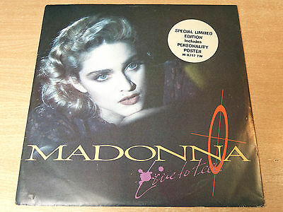 """EX-/EX- !! Madonna/Live To Tell/1986 Sire 12"""" Single + Personality Poster"""