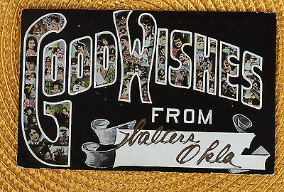 Oklahoma; Walters Good Wishes From ca 1910