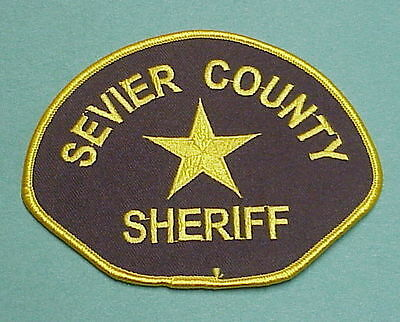 Sevier County  Utah  Ut  Sheriff /  Police Patch  Nice!   Free Shipping!!!