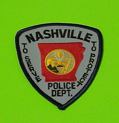 Nashville  Arkansas  Ar  Police Patch   Free Shipping!!!