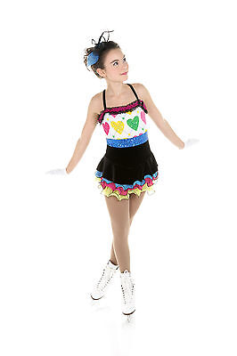 New Elite Xpression Figure Skating Dress D292-HEART Made on Order