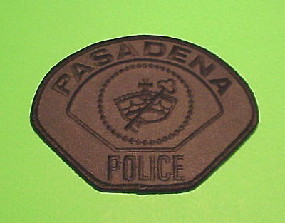 Pasadena  California  Ca  ( Subdued Green/black )  Police Patch   Free Shipping!