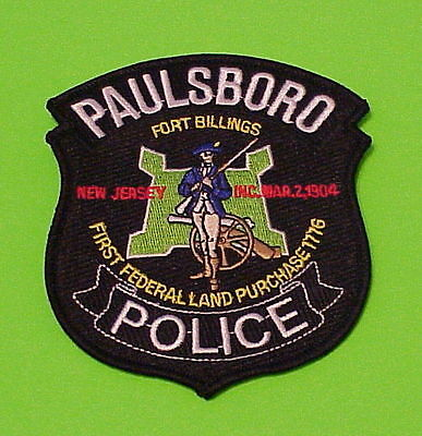 Paulsboro  New Jersey  Nj  Fort Billings ( Green )  Police Patch   Free Shipping