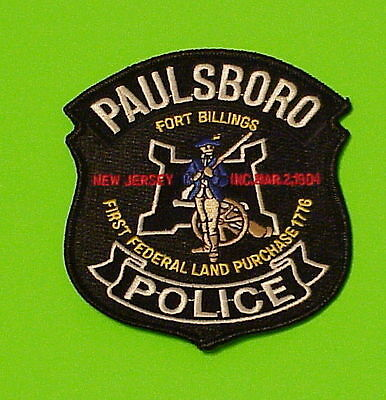 Paulsboro  New Jersey   Nj  Fort Billings   Police Patch  Free Shipping!!