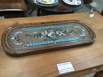 Antique Victorian Burr Walnut Beadwork Tray Superb Quality Walnut