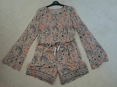 NEXT Girls (15 Years) Bohemian Style Playsuit Flared Sleeves Paisley - Holiday!