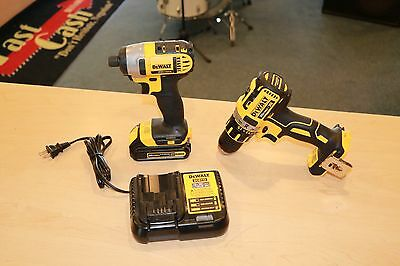 DeWalt DCK280C2 20V Max Lithium Ion Compact Drill / Driver Kit Pre-owned