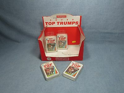 Vintage Waddigtons SUPER TOP TRUMPS shop dislay box + SEALED TODAYS STRIKERS
