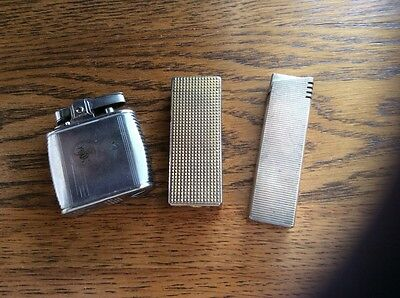 3 vintage cigarette lighters for spares or repair