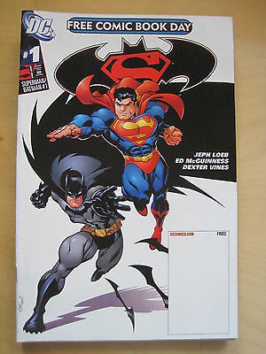 SUPERMAN / BATMAN # 1.  RARE FREE COMIC BOOK DAY ISSUE. LOEB,McGUINNESS. DC 2006