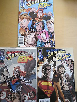 Superman / Gen 13 : Complete 3 Issue Series. Supergirl.. Dc / Ws.2000