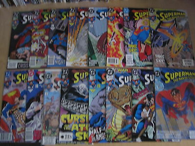 SUPERMAN THE MAN of STEEL #s 1 - 16 COMPLETE by SIMONSON, JURGENS etc.DC.1991