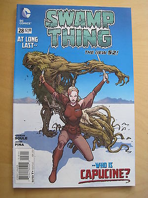 SWAMP THING  # 28  by CHARLES SOULE. 1st PRINT. THE NEW 52. DC.2014