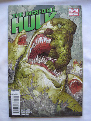 The Incredible HULK   #  2.  By  JASON AARON & MARC SILVESTRI.  MARVEL.  2011