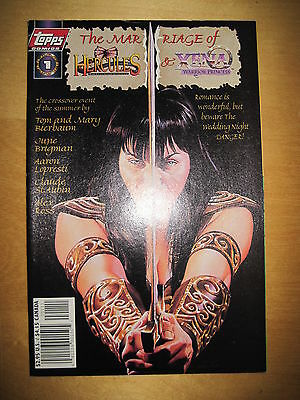 The MARRIAGE of HERCULES & XENA, WARRIOR PRINCESS : CROSSOVER 1 SHOT. TOPPS.1998