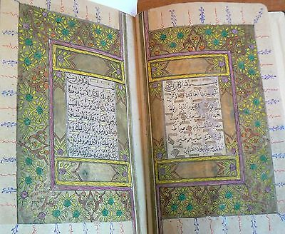 Arabic Manuscript Complete Medium Koran, Medium Size, Siged and dated 1785