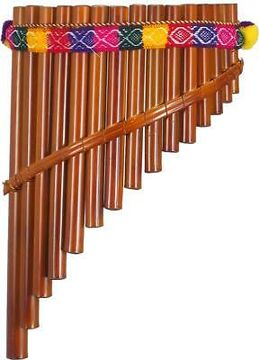 Peruvian 15 note PANPIPE. Traditional style curved bamboo pipes. From Hobgoblin