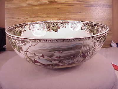 Beautiful Johnson Brothers The Friendly Village Large Salad Bowl Made In England