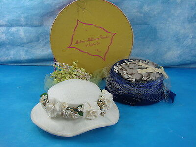 Vtg Modern Millinery Studios & Supplies Inc.  Hat Box With Two Antique Hats