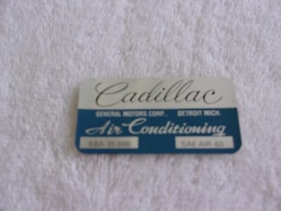 1970 Cadillac Coupe Deville  Air Conditioning Evap Box Decal
