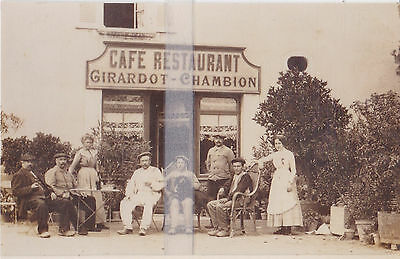 Photo Tiree D'une Cpa  Leves Cafe-Restaurant Girardot-Chambion