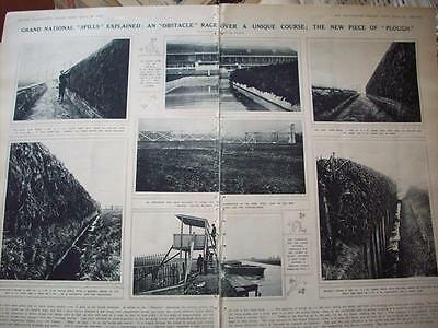 1923 GRAND NATIONAL Fences ahead of Race Horse Racing :: magazine photos