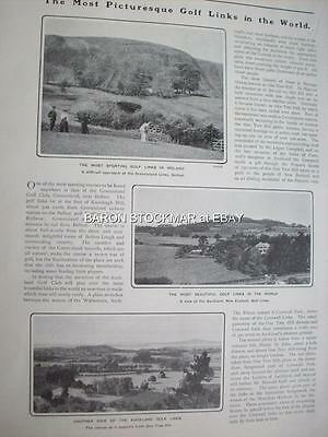 1901 GOLF Golfing Taylor Braid Vardon Greenisland Hyeres #2 :: magazine articleT