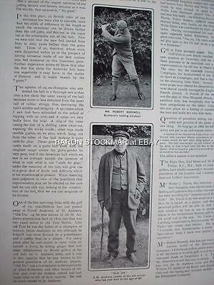 1901 GOLF Golfing David Anderson of St Andrews #1 :: vintage magazin articleT