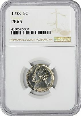 1938 Jefferson Nickel PR65 NGC Proof 65
