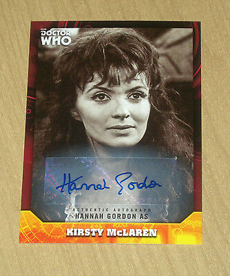 2017 Topps Doctor Who signature RED autograph Hannah Gordon 1/5