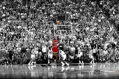 "Michael Jordan The Last Shot Poster 24 x 36""  Chicago Bulls"