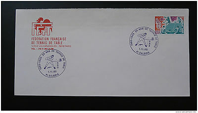 table tennis French Federation philatelic cover 1985