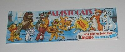 "Bpz ""Aristocats"" 1989 Original!!!"
