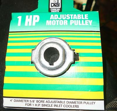 Dial 4 in. x 5/8 in. Evaporative Cooler Adjustable Motor Pulley 1 HP New