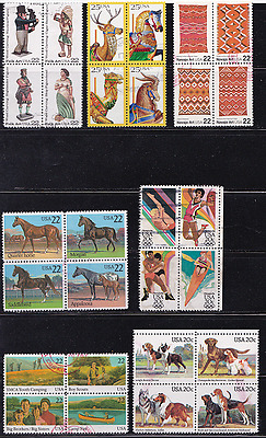 US Se-Tenant Block of 4s - Used Complete~