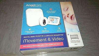 "Angelcare Baby Movement Monitor with 4.3"" Touchscreen Display AC 417 BNIB - UK"