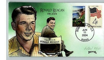 RONALD REAGAN, Hand Painted National Day of Mourning for Reagan, June 11, 2004,