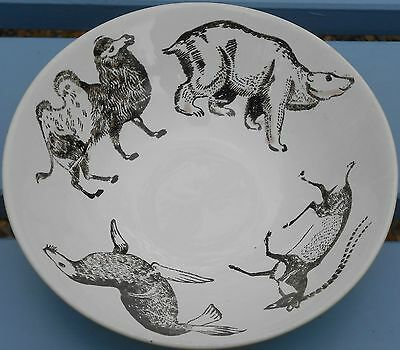 POOLE POTTERY - ZOO ANIMALS CHILDS BOWL - ROBERT JEFFERSON 1960s