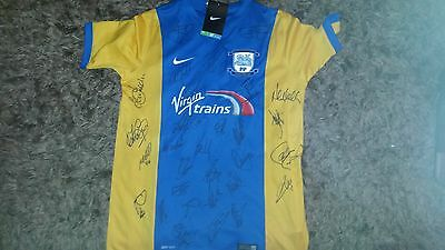 Superb Bnwt Preston North End Away Shirt Signed By 30
