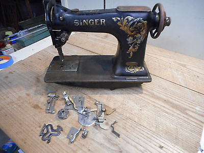 "Antique Heavy Duty Singer Industrial Sewing Machine Head 61 ""W""  Commercial"
