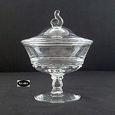 "Fostoria Century Crystal Covered 6"" Preserve"